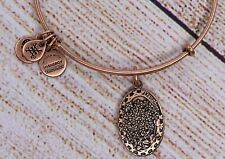NEW Alex and Ani Because I Love You Daughter II Charm Bangle Rose Gold Bracelet