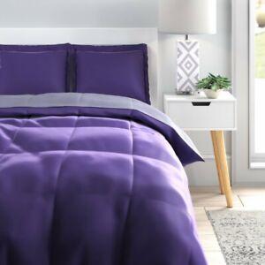 Wynton Microfiber Reversible 3 Piece Comforter Set