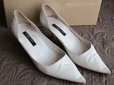 Sergio Rossi Women's Shoes Classic Heel Pumps White Heels Size 36.5