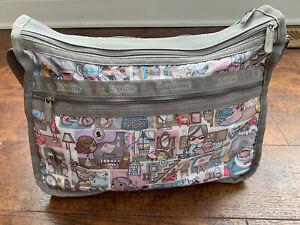 Lesportsac Girl Print Deluxe Everyday Handbag-Expandable