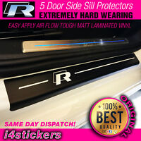 VW Golf R MK6 MK7 Side Door Sill Protectors Hard wearing vinyl 5 DOOR stickers