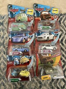6 DISNEY CARS LOT Chase Look my eyes change Jay Limo Lenticular Luigi Guido Fred
