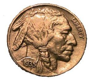 1935-S Buffalo Nickel Choice VF+ Original Grey Toned Indian Head 5 Cent Coin