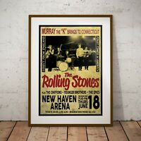 The Rolling Stones 1964 Early USA Concert Poster Framed or 3 Print Options NEW