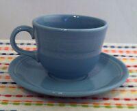 Fiestaware Periwinkle Teacup and Saucer Fiesta Retired Blue Tea Cup