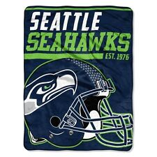 """New NFL Seattle Seahawks Soft Micro Rasche Large Throw Blanket 46"""" X 60"""""""