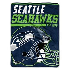 "New NFL Seattle Seahawks Soft Micro Rasche Large Throw Blanket 46"" X 60"""