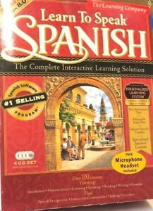 The Learning Company Learn to Speak Spanish 8.0 (PC)(COMPLETE)(VG CONDITION)