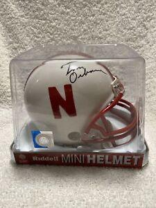 Tom Osborne SIGNED Autographed Nebraska Cornhuskers mini helmet