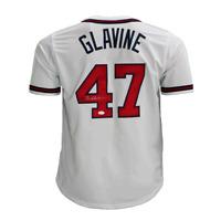 Tom Glavine Signed Atlanta Pro Style Baseball Jersey White (JSA)