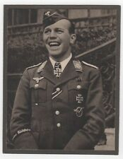 HELMUT WICK WWII LUFTWAFFE ACE SIGNED PHOTO TOP ACE OF BATTLE OF BRITAIN JG 2