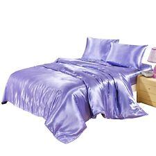 Satin Bedding Duvet Cushion Cover Set 2 Pillowcase 1 Duvet Cover Twin/King/Queen