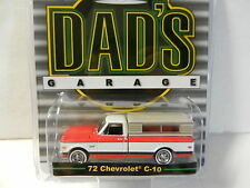 1:64 GreenLight *DAD'S GARAGE* Red & White 1972 Chevrolet C-10 Pickup w/TOPPER