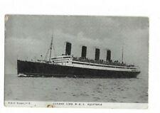 Cunard Line R.M.S Aquitania Postcard