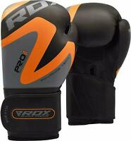 RDX Leather Boxing Glove Punching Bag Muay Thai MMA Training Kickboxing Sparring