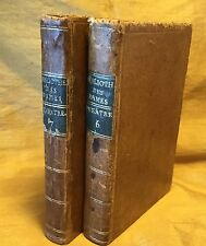 Lot Antique 1786 Bibliotheque Des Dames Theatre French Play Tome 6 & 7 Corneille