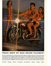1968 SUZUKI 500/FIVE MOTORCYCLE / PLAYBOY MAGAZINE ~ ORIGINAL PRINT AD