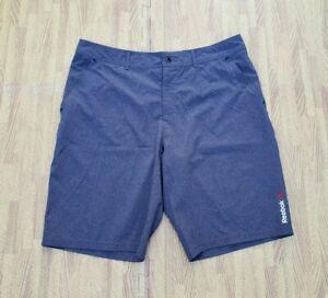 "Reebok CrossFit Speedwick Casual Lifting Shorts ~ Men's Size 34 34"" ~ Gray"