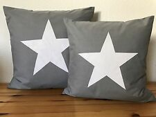 style maison de campagne Housse de coussin étoile gris/blanc 50X50CM