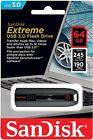 SanDisk 64GB EXTREME Cruzer USB 3.0 Fast Flash Memory Pen Drive SDCZ80-064G-G46