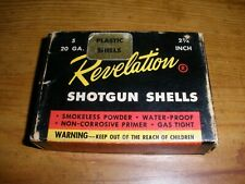 Vintage Revelation 20 GA.  Shot Shells -5 Rifled slugs -   Empty Ammo Box