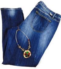 Maurices blue women's plus size destroyed medium wash spandex denim jeans 20