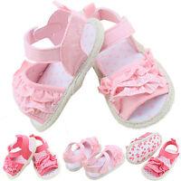 Toddler Infant Kids Baby Girl Summer Princess Sandals Soft Sole Crib Shoes 0-18M