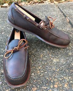 LL Bean Handsewn Jackman Camp Mocs, Moccasin Shoes, Men's 14 D