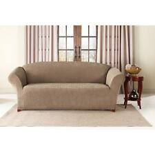 Sure Fit Stretch Pinstripe Sofa Slip Cover- Taupe 1pcs
