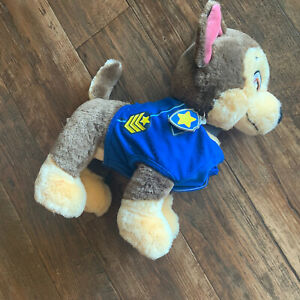 """Build a Bear Workshop Paw Patrol Chase Plush 14"""" Toy Stuffed Dog with outfit"""