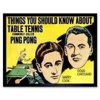 1935 Ping Pong G Table Tennis Bat Perryman H Patent Art Poster