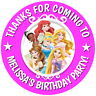 PERSONALISED DISNEY PRINCESS GLOSS BIRTHDAY PARTY BAG BOX SWEET CONE STICKERS