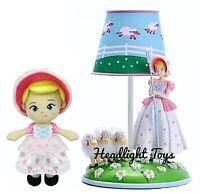 "Disney Pixar Toy Story 4 Bo Peep & Sheep Table Lamp Figure Doll + 8"" Plush Doll"