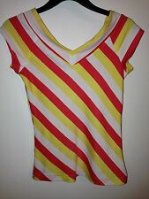 NWT- SELF ESTEEM GIRL Colorful Striped Blouse Girl's Size M (8/10) FREE SHIPPING