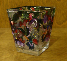 Amia Studios Votive #6078 FUCHSIAS & HUMMINGBIRDS  NEW/Box From Retail Store