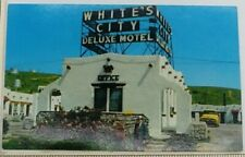 1957 Whites City De Luxe Motel New Mexico Charlie White Postcard Carlsbad Cavern