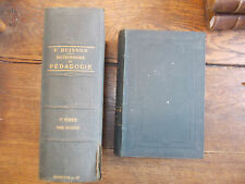 Dictionnaire de pédagogie et d'instruction primaire / Buisson / tomes 1 & 2