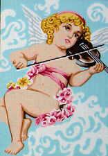 Angel Playing The Violin Tapestry Canvas Gobelin L