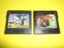 2 vecchi giochini game gear winbledon tennis sport kick off anni 90 retro giochi