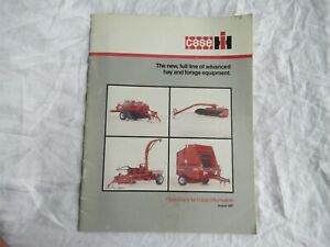 Case CASEIH hay forage balers mower conditioner technical information brochure