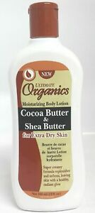 Ultimate Organics Cocoa Butter & Shea Butter for Extra dry Skin lotion 12oz