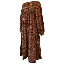 PHOOL rare vintage 1970s block printed Indian cotton paisley hippy dress