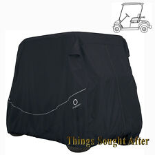 BLACK GOLF CART STORAGE COVER 2-PERSON 60 IN ROOF E-Z-GO CLUB CAR YAMAHA Others
