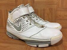 RARE🔥 Nike Zoom Kobe II 2 White Metallic Silver Gray Sz 10 316022-111 Shark