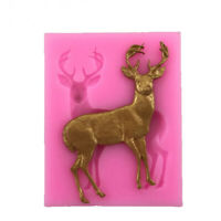 1pcs Silicone Fondant Deer Mould Cake Mold Chocolate Cookie Cupcake Molds New