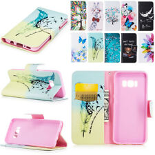 Painted Leather Wallet Flip Case Cover For Samsung Galaxy S10 Plus S9 S8 S7 S6