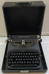 Remington Rand Deluxe Model 5 Typewriter with Case - Parts or Repair Only - READ
