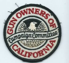 Gun Owners of California campaign committee patch 3 in dia #737