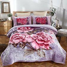 Heavy Korean Mink Blanket Sherpa Blanket Comforter Printed Embossed Bed Blanket