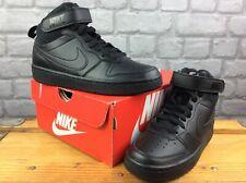 Nike Air UK 4 EU 36.5 Negro Tribunal Borough a mediados de 2 entrenadores chicos niños rrp £ 42